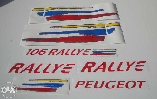 Autocolantes Peugeot 106 rallye serie 2 Mk2 e R2