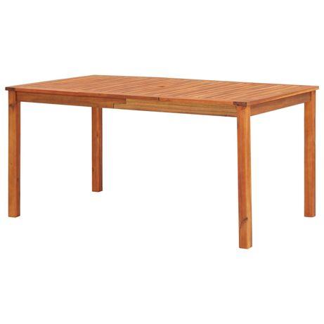 vidaXL Mesa de jardim 150x90x74 cm madeira de acácia maciça 45962