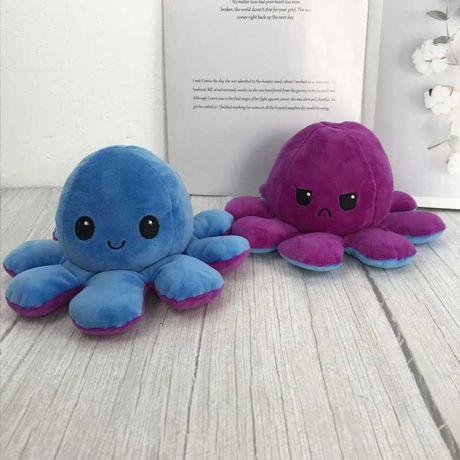 Восьминіг двосторонній(перевертиш) Фіолетово-синій. М'яка ірграшка