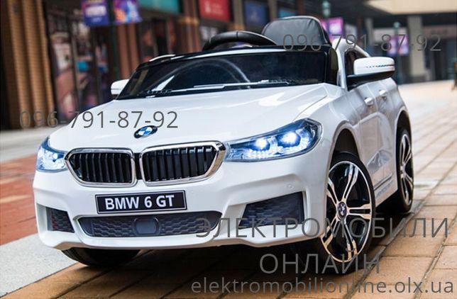 Детский электромобиль BMW 6 GT (JJ 2164 EBLR) дитячий електромобіль