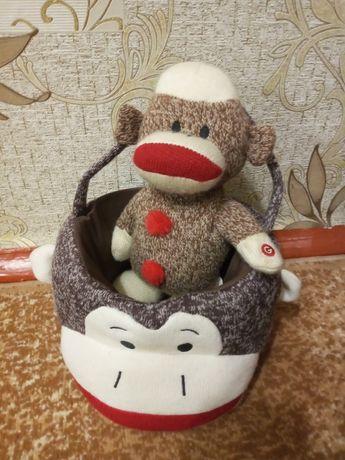 Игрушка из серии sock monkey
