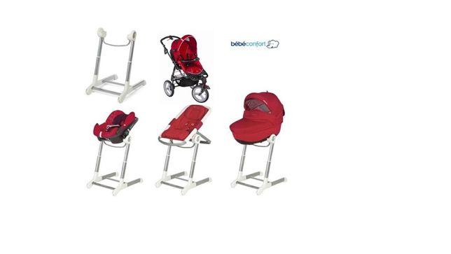 Trio bebé confort (carrinho bebé, alcofa e ovo) + espreguiçadeira
