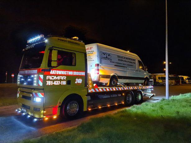 Transport 13 ton , laweta , pomoc drogowa , TIR