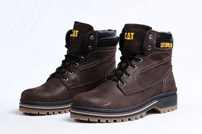 Зимние мужские ботинки на меху CAT Caterpilar Anti-Glide