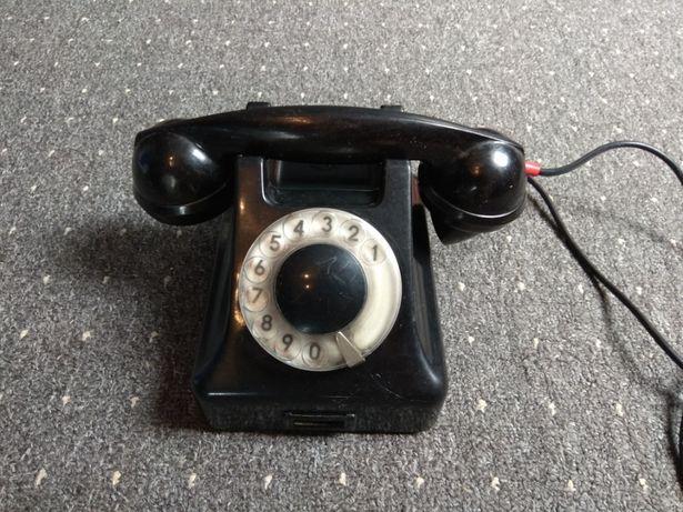 Zabytkowy czarny telefon, loft, ozdoba, dekoracja