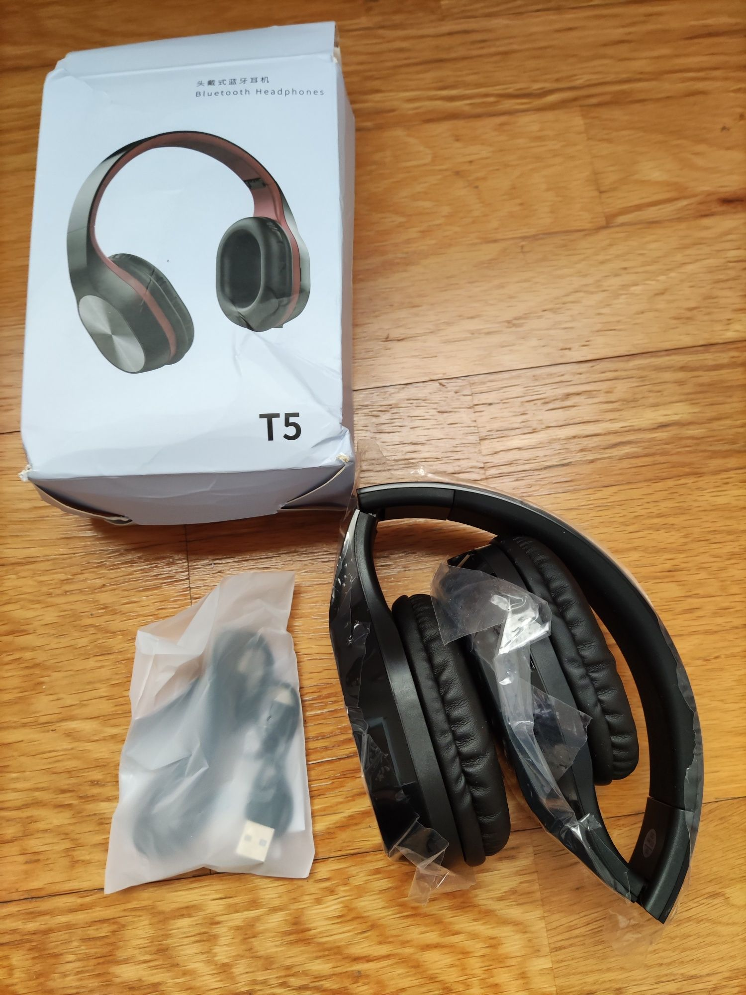 Auscultadores Wifi Bluetooh 5.0 Surround com microfone Headphones