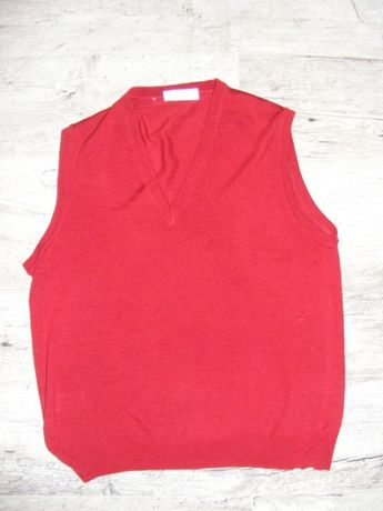 Sweter / bezrękawnik wełniany, 100% Merino, St. Michael