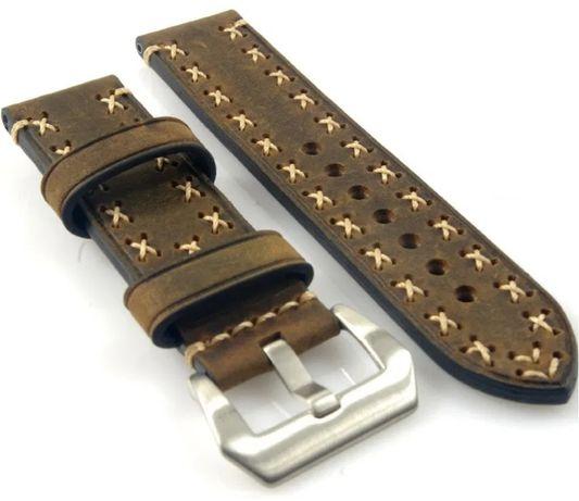 Bracelete Pele Castanha 22mm