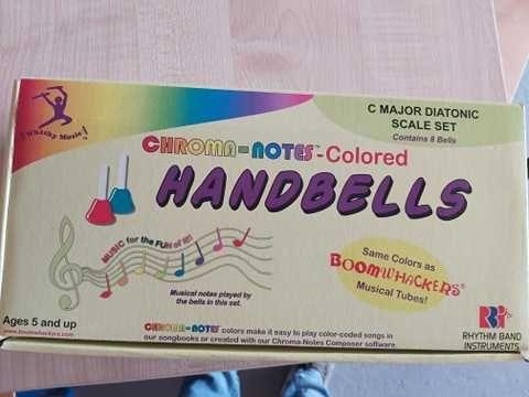 8szt. Octave School Handbells Kolorowe ręcznie dzwonki