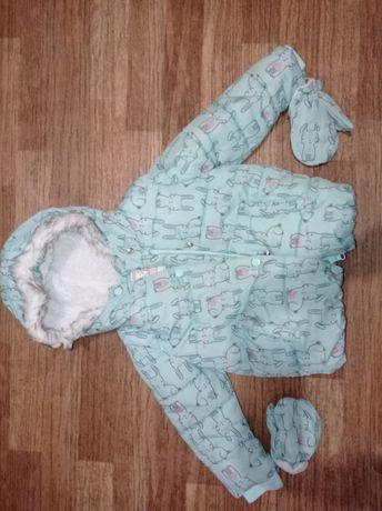 Куртка зимняя на возраст 3-4 года