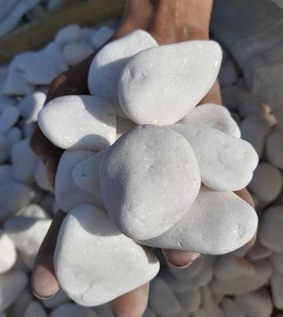 Biały otoczak Thassos Light 20-40mm, kamienie ozdobne, otoczaki