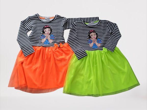 Sukienka neonowa sniezka 80-128