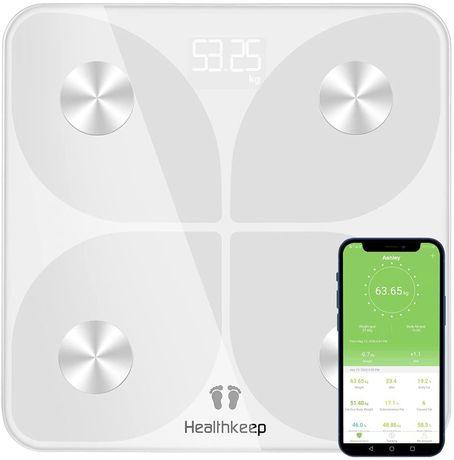 SELADA! Balança digital Bluetooth aplicação peso corporal, IMC BMR