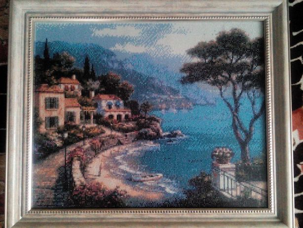 Картина алмазная мозаика в рамке 48*58 см