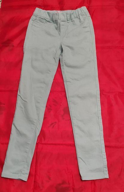 Spodnie jeans dżinsy skinny dziewczęce 11-12 lat rozmiar 152 miętowy