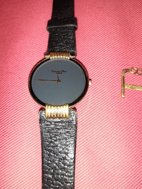 Relógio Christian Dior, banhado a ouro
