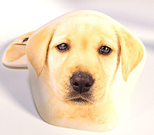 Poduszka kształtka pies Labrador, miękka 35/35 cm
