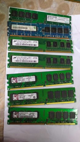 Оперативная память ddr2 512/1gb 667/800 Mhz