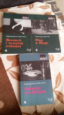 Zestaw książek Marinina, Mankell Psy z Rygi, Kolacja z zabójcą, Śmierć
