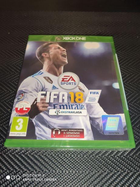 FIFA 18 plus dodatek World Cup Russia Xbox one nowa zafoliowana