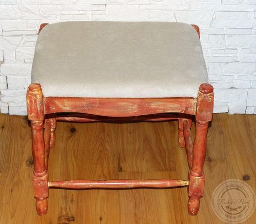 PRZECENA siedzisko/stołek/pufa, postarzane/vintage