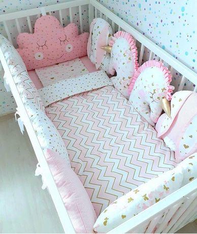 Бортики , Защита в кроватку, бортики подушки