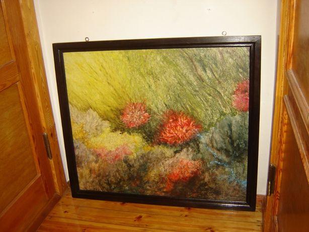 Duży obraz olejny na płótnie wspaniałej malarki Marii Białoborskiej