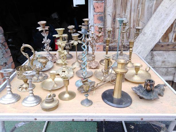 Sprzedam świeczniki świecznik z mosiądzu i miedzi