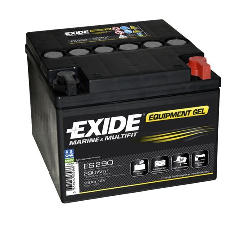 Exide Equipment Gel 12V 25AH 150A ES290