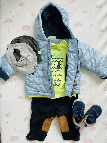 Zestaw dla chłopca kurtka wiosenna Cocodrillo 68, spodnie RL