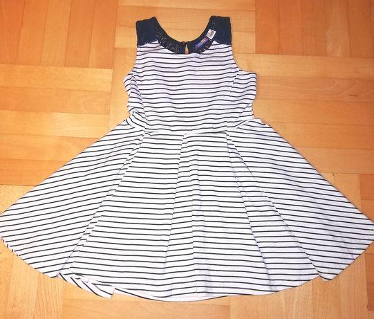 Sukienka rozmiar 110/116  elegancka w paseczki