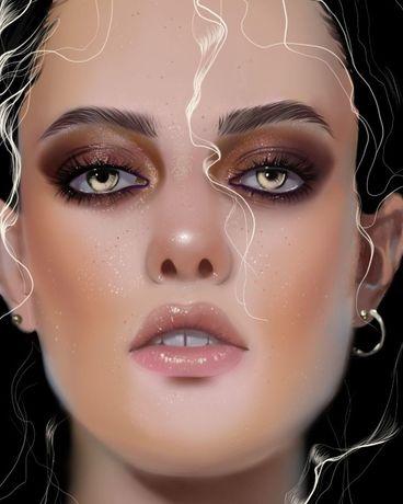 Портреты, картины под заказ на графическом планшете