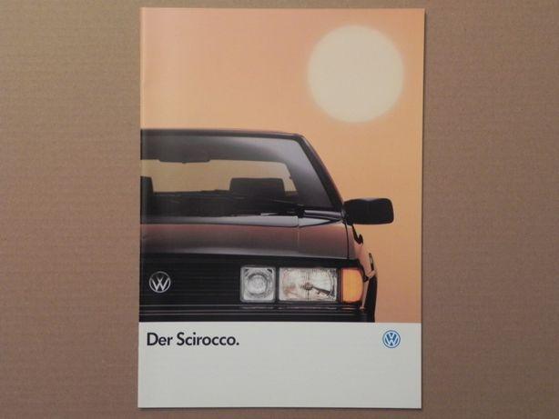 Prospekt - VOLKSWAGEN VW SCIROCCO II - 1991 rok