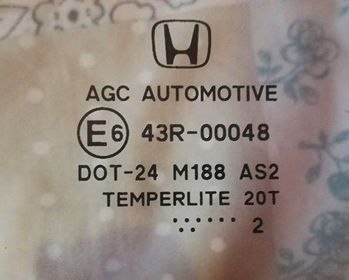 Honda Civic szyba tył lewy