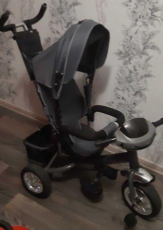 Велосипед-коляска детский 3х-колесный с родительской ручкой