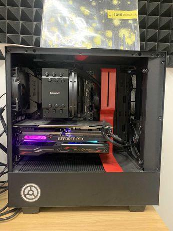 Компьютер в корпусе nzxt, i7 9700, rtx 2070 super, 32 ram, 1.5tb ssd
