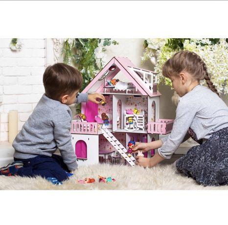 Мега крутой Огромный кукольный домик для лол lol дача с мебелью