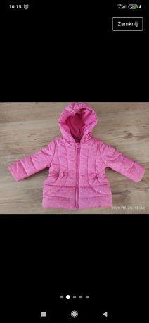 Śliczna kurtka zimowa  płaszczyk zimowy dla dziewczynki TEX