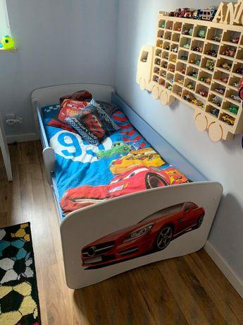 Łóżko z samochodem barierka materac mercedes łóżeczko szuflada