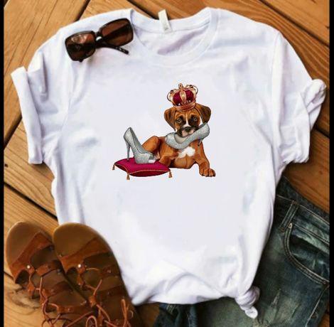 Koszulka bluzka t-shirt pies bokser boxer S M L XL XXL