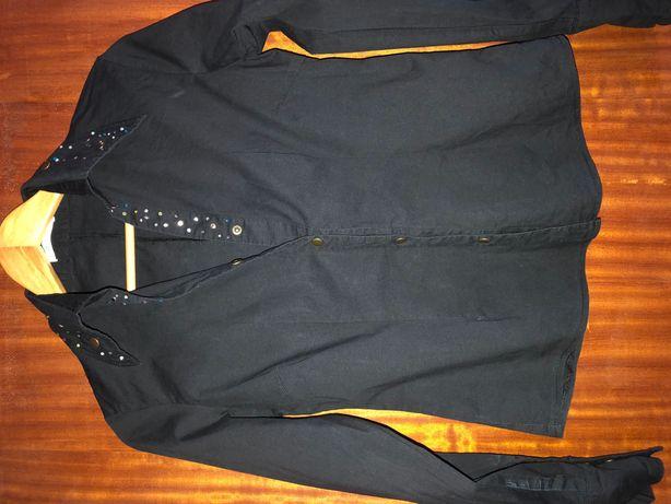 Camisa preta Porta Fortuna Tam L