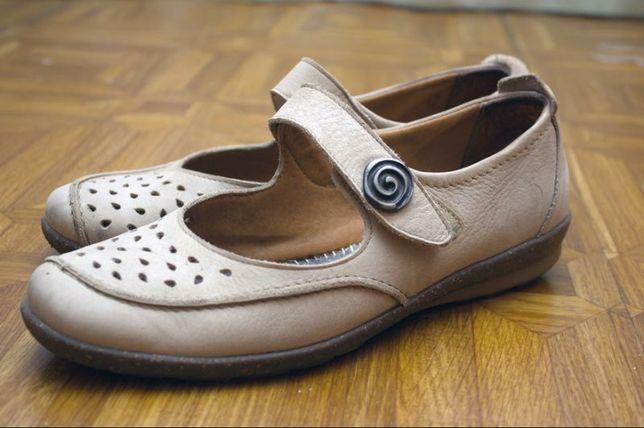 Летние туфли, мягкие кожа