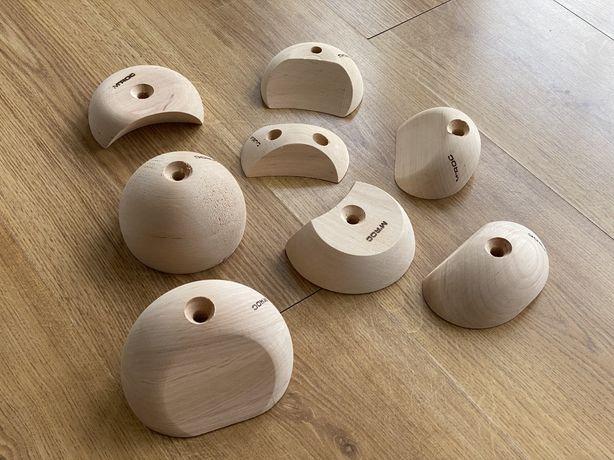 Drewniane chwyty wspinaczkowe