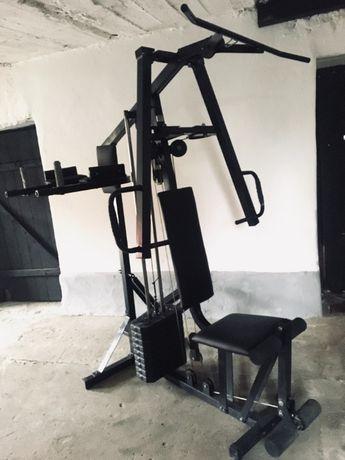 Siłownia atlas do ćwiczeń 60kg obciążenia wyciąg dolny górny dipy fit