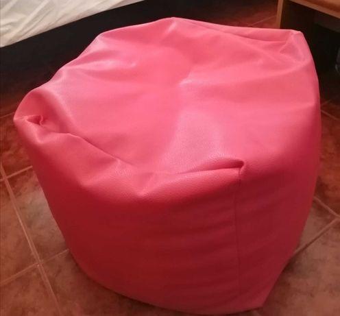 Puff cor de rosa - NOVO