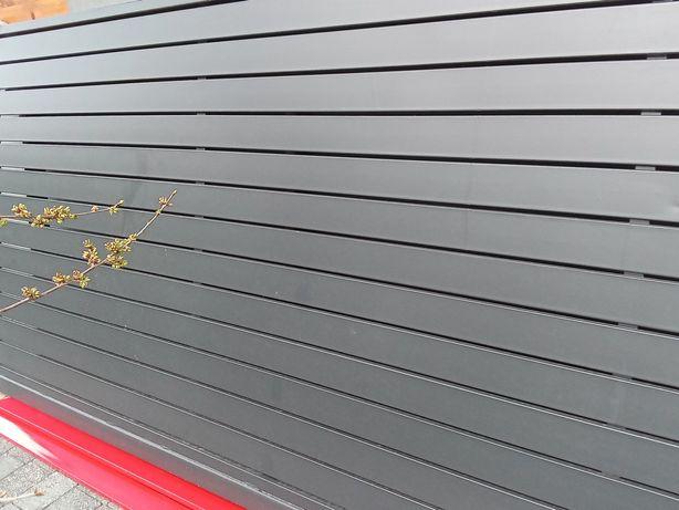 Brama panelowa ogrodzenie nowoczesne