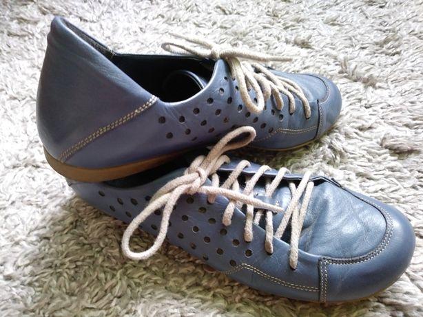 Buty skórzane Exclusive Roberto, rozm 36, kolor Niebieski