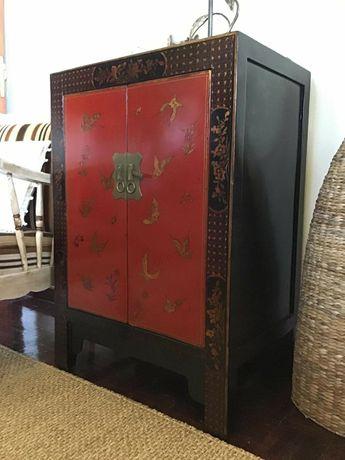 consola, aparador, armario, apoio, oriental, rustico