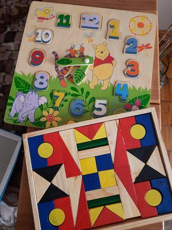 Іграшки з дерева еко годинник