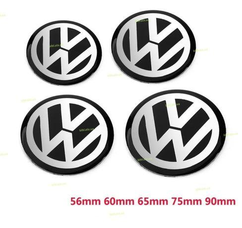 4шт Комлект эмблема наклейка VW на колпачки для дисков 56,60,65,75,90м